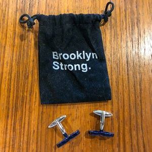Brooklyn Strong Mustache Cuff Links